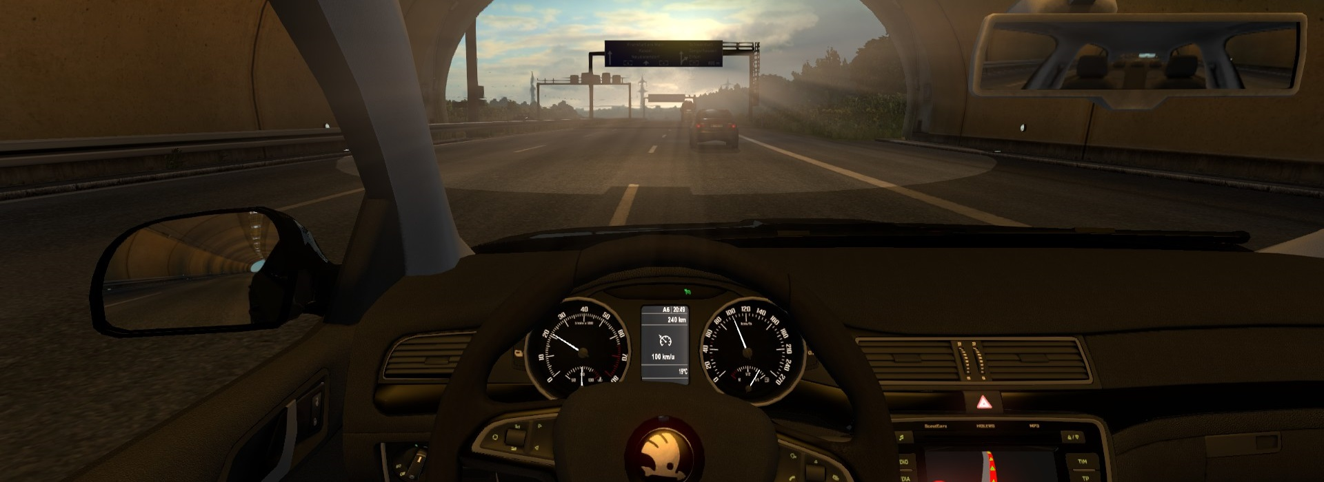 Euro Truck Simulator 2 - Driving with a car is possible as well!